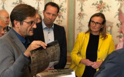 Staatssekräterin Katrin Schütz in Hürbel